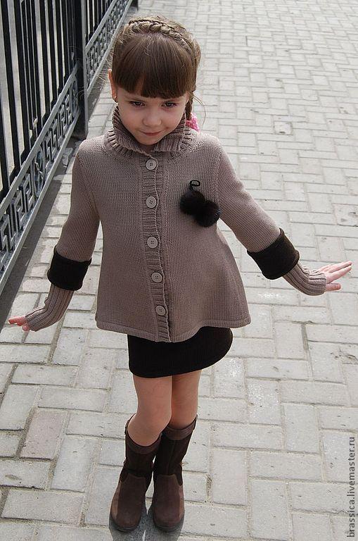 комплект вязаный для девочки City Girl купить в интернет магазине
