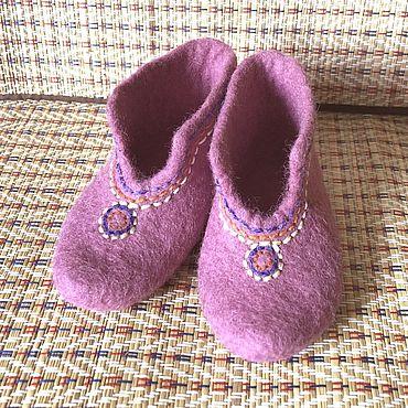 Обувь ручной работы. Ярмарка Мастеров - ручная работа Валяные пинетки. Handmade.