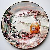 Посуда ручной работы. Ярмарка Мастеров - ручная работа Тарелка декоративная Солнечная Тоскана. Handmade.