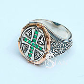 Украшения handmade. Livemaster - original item Silver ring with cross. Handmade.