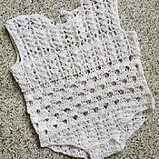 Tops handmade. Livemaster - original item Openwork body for the baby. Handmade.