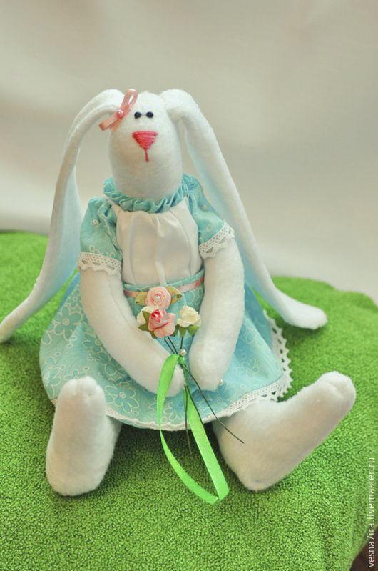 """Куклы и игрушки ручной работы. Ярмарка Мастеров - ручная работа. Купить Набор для шитья """"Зайка стоячая"""". Handmade. Кролик, лён"""