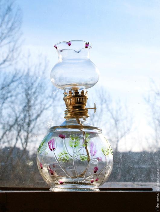 """Освещение ручной работы. Ярмарка Мастеров - ручная работа. Купить лампа керосиновая """"перед Весной..."""". Handmade. Ярко-зелёный"""