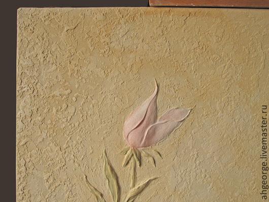 Картины цветов ручной работы. Ярмарка Мастеров - ручная работа. Купить «Танец Роз». Handmade. Бежевый, барельеф, радость