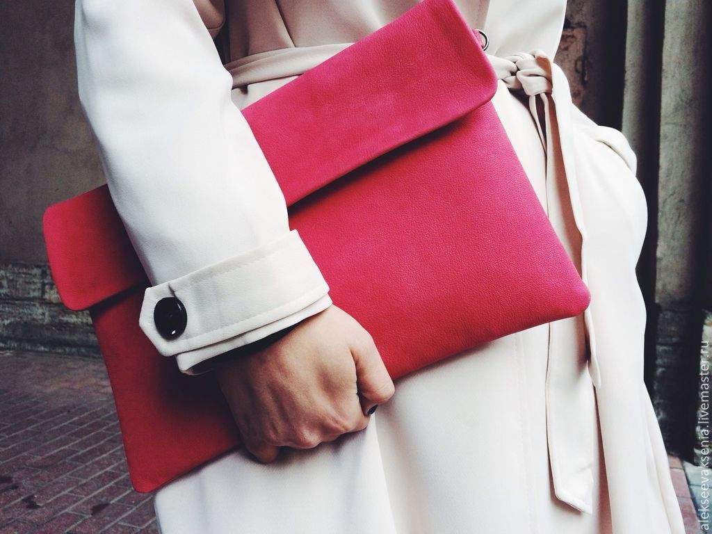 Bag genuine leather 'Pink', Clutches, St. Petersburg,  Фото №1