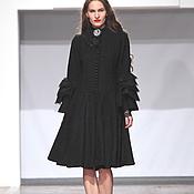 """Одежда ручной работы. Ярмарка Мастеров - ручная работа Пальто """"Анжелика"""" в черном цвете. Handmade."""