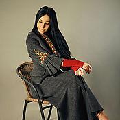Одежда handmade. Livemaster - original item Warm suit with embroidery