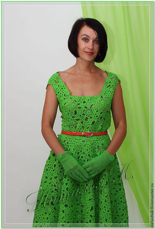 Платья ручной работы. Ярмарка Мастеров - ручная работа. Купить платье Катрин. Handmade. Ярко-зелёный, платье коктейльное