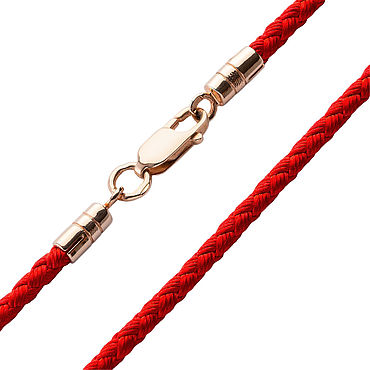Украшения ручной работы. Ярмарка Мастеров - ручная работа Красный Золотой шнурок - толщина 2,5 мм. Handmade.