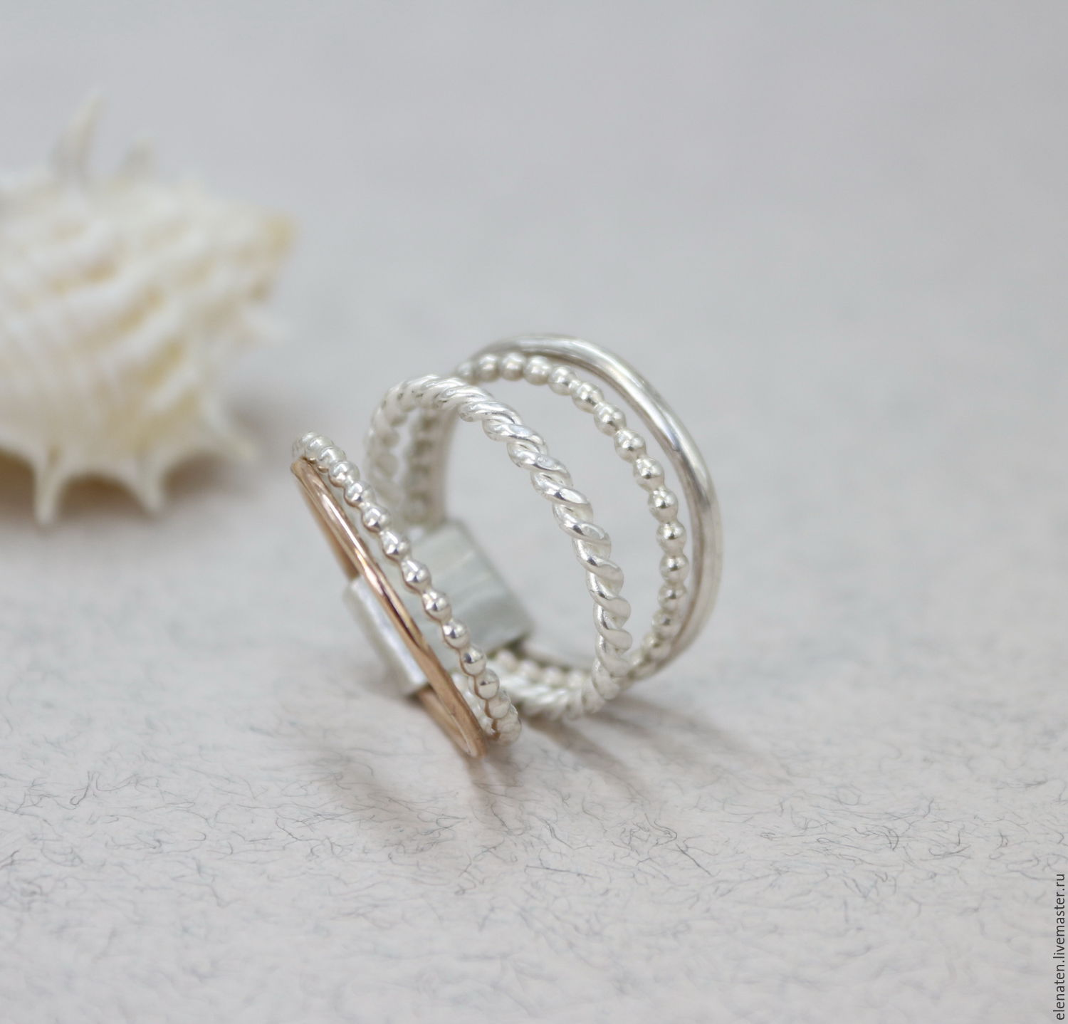 jewelry sterling silver stacking item online buy on rings twisted livemaster handmade shop