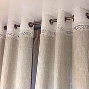 Для дома и интерьера ручной работы. Ярмарка Мастеров - ручная работа Портьеры (шторы) комбинированные. Handmade.