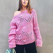 Одежда handmade. Livemaster - original item Knitted sweater mohair