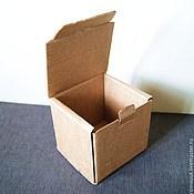 "Материалы для творчества ручной работы. Ярмарка Мастеров - ручная работа коробка ""Простая-7"" 12х11х11см крафт. Handmade."