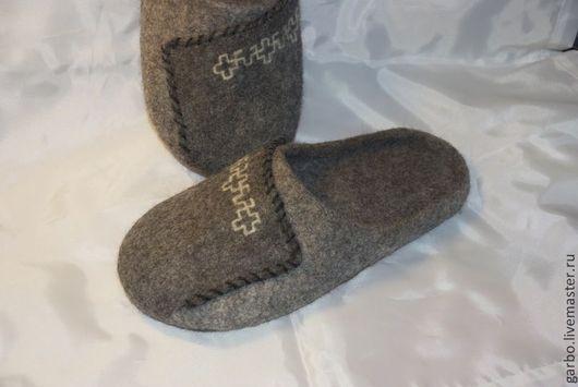 """Обувь ручной работы. Ярмарка Мастеров - ручная работа. Купить Мужские валяные тапки """"Ерема"""". Handmade. Тапки из шерсти"""