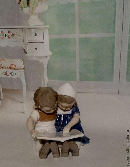 Винтажные предметы интерьера. Ярмарка Мастеров - ручная работа. Купить Дети читают книгу. Handmade. Комбинированный, дети читают книгу