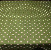 Для дома и интерьера ручной работы. Ярмарка Мастеров - ручная работа Хлопковая скатерть с  пропиткой Горох зеленая. Handmade.