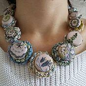 handmade. Livemaster - original item The textile necklace