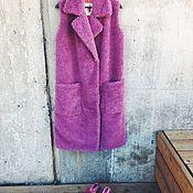 Одежда ручной работы. Ярмарка Мастеров - ручная работа Длинный жилет из овчины. Handmade.