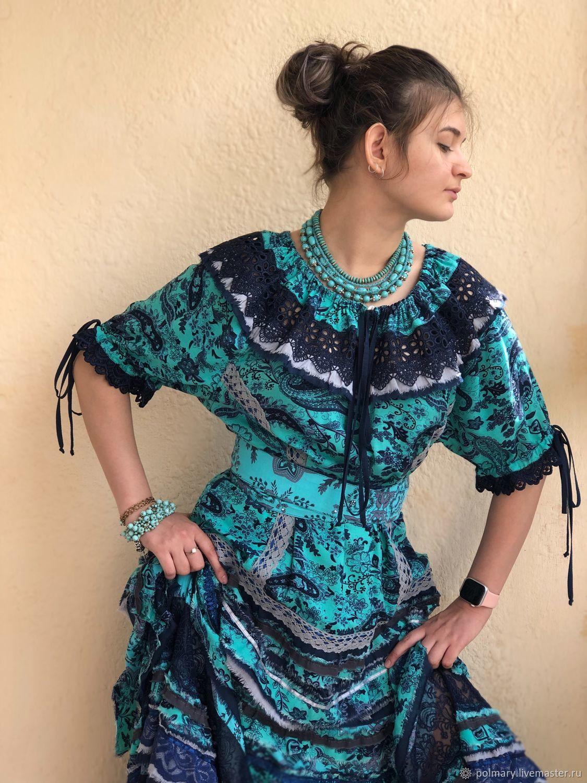28adcf4a75e Dresses handmade. Livemaster - handmade. Buy Boho dress blue-turquoise.Dress  ...