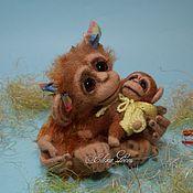 Куклы и игрушки ручной работы. Ярмарка Мастеров - ручная работа Обезьянка Вики. Handmade.