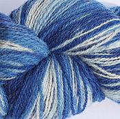 Пряжа ручной работы. Ярмарка Мастеров - ручная работа Кауни Blue-White 8/1, 8/2. Handmade.