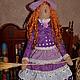 Куклы Тильды ручной работы. Ярмарка Мастеров - ручная работа. Купить Тильда,,Ведьмочка,,. Handmade. Тёмно-фиолетовый, текстильная кукла