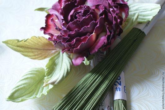 Другие виды рукоделия ручной работы. Ярмарка Мастеров - ручная работа. Купить Флористическая проволока зеленого и коричневого цвета. Handmade.