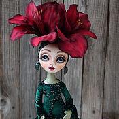 Куклы и игрушки ручной работы. Ярмарка Мастеров - ручная работа Коллекционная кукла-цветок Амарилис. Handmade.