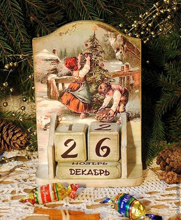"""Вечный календарь """"Merry Christmas"""", Календари, Санкт-Петербург,  Фото №1"""