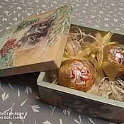 Игрушки ручной работы. Ярмарка Мастеров - ручная работа Игрушки елочные новогодние в коробке. Handmade.