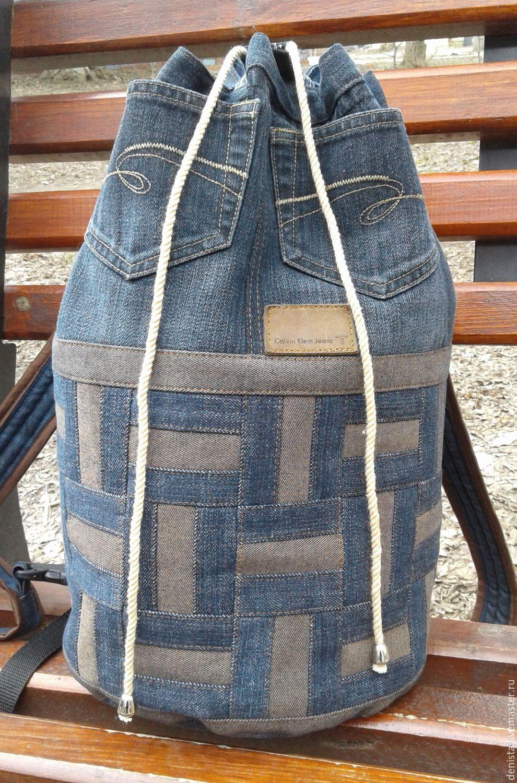 Пэчворк рюкзак из джинсов своими руками