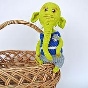 Куклы и игрушки ручной работы. Ярмарка Мастеров - ручная работа Мамонт Васабик (слоник тедди). Handmade.