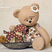 Куклы и игрушки ручной работы. Ярмарка Мастеров - ручная работа Мишка Сима с Лошадкой. Handmade.