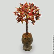 Цветы и флористика handmade. Livemaster - original item Tree with amber in a vase of onyx