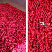 Для дома и интерьера handmade. Livemaster - original item Plaid 100% Merino wool Berry. Handmade.