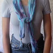 Аксессуары handmade. Livemaster - original item Delicate summer cotton scarves, 150h80 cm, Shibori. Handmade.