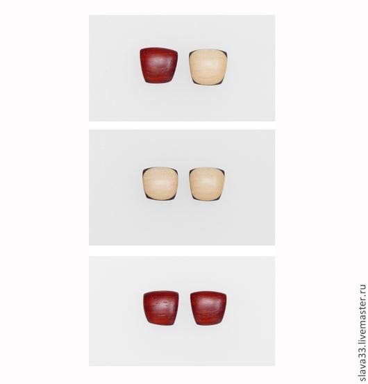 Серьги ручной работы. Ярмарка Мастеров - ручная работа. Купить Разноцветные серьги-пусеты ( на заказ ). Handmade. Серьги