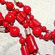 """Колье, бусы ручной работы. Бусы """"Красный коралл, цилиндр"""". Галина Светлова. Ярмарка Мастеров. Коралловые серьги, авторские украшения"""
