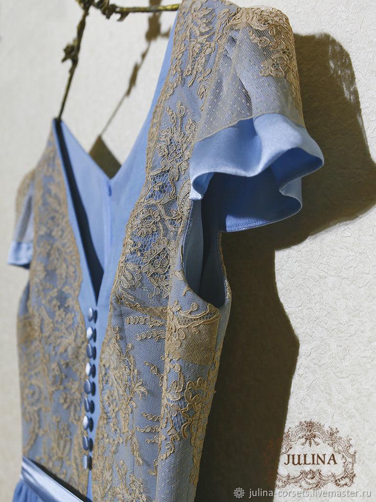 Платье из натурального шелка и антикварного кружева Tiffany, Платья, Москва,  Фото №1