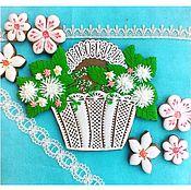 Сувениры и подарки handmade. Livemaster - original item Gingerbread Basket with flowers. Handmade.