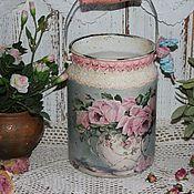 """Для дома и интерьера ручной работы. Ярмарка Мастеров - ручная работа """"Букет роз"""" бидон-ваза. Handmade."""