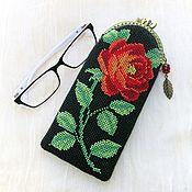 Сумки и аксессуары handmade. Livemaster - original item cases: Eyeglass case Recognition rose Red. Handmade.