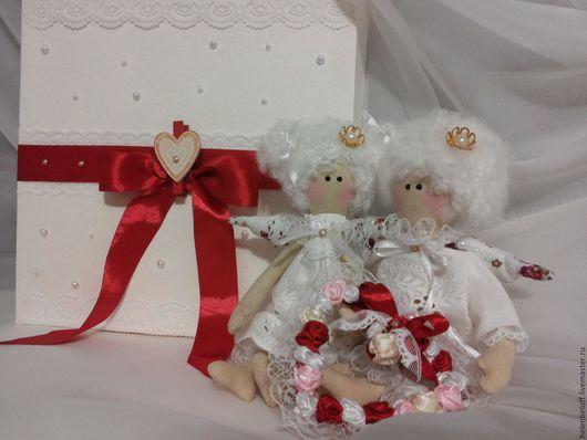 Куклы Тильды ручной работы. Ярмарка Мастеров - ручная работа. Купить ангелы свадебные. Handmade. Белый, неразлучники, интерьерная кукла