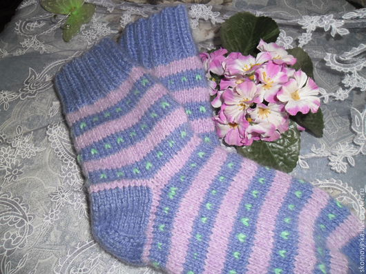 Носки женские вязанные шерстяные