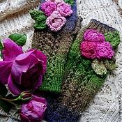 Аксессуары ручной работы. Ярмарка Мастеров - ручная работа Митенки с розами. Handmade.