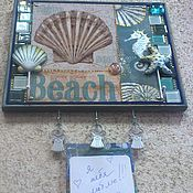 """Для дома и интерьера ручной работы. Ярмарка Мастеров - ручная работа Ключница""""Морской пляж"""". Handmade."""