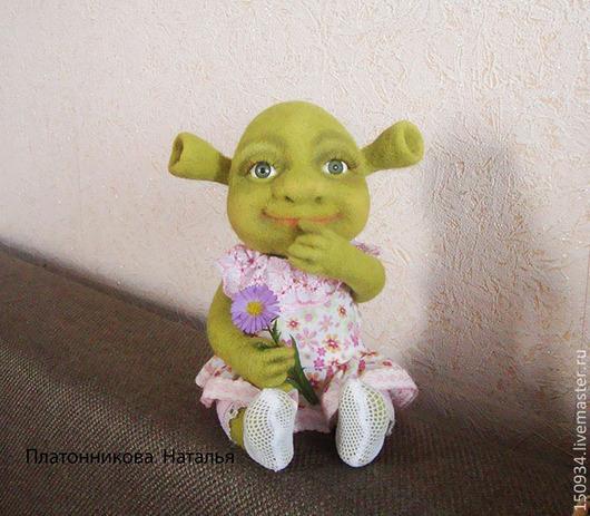 """Сказочные персонажи ручной работы. Ярмарка Мастеров - ручная работа. Купить кукла """"Бетони"""". Handmade. Зеленый, подарок на день рождения"""