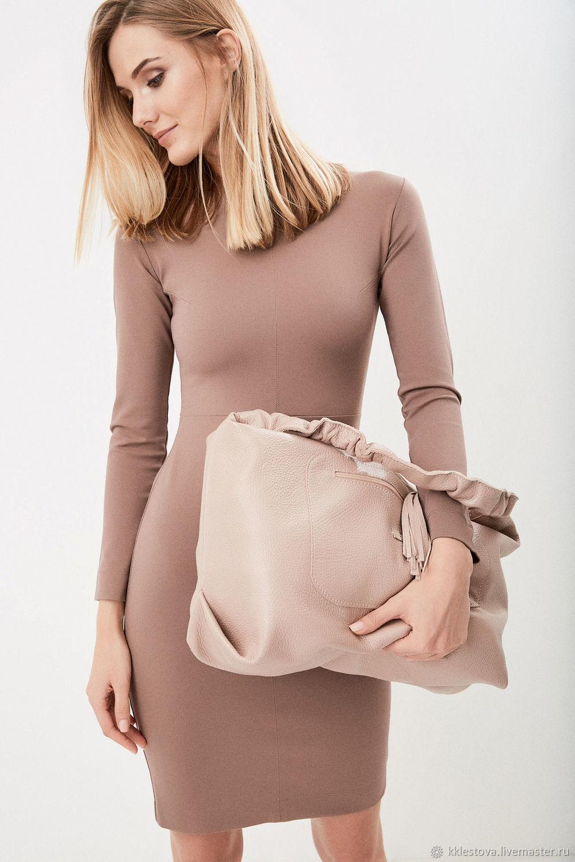 Buy Pink Bag Hobo Bag Duffel Shopper Ash Rose Handbags handmade. Pink Bag  Hobo Bag Duffel Shopper Ash Rose Powder. BagsByKaterinaKlestova. 8aca9ed46def4