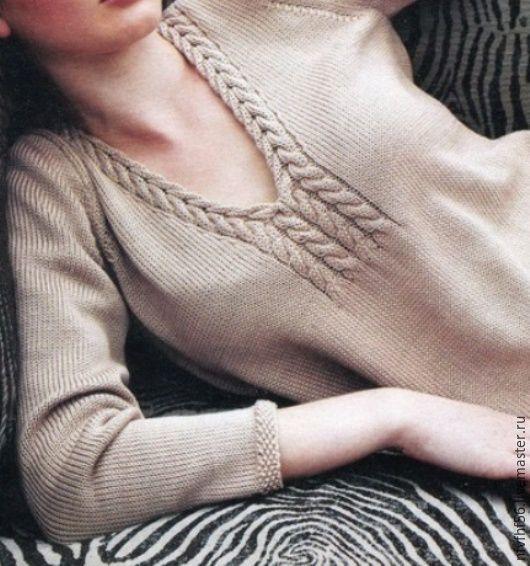 """Кофты и свитера ручной работы. Ярмарка Мастеров - ручная работа. Купить Пуловер женский """"Любимый"""". Handmade. Джемпер, бежевый, свитер"""