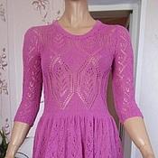 Одежда ручной работы. Ярмарка Мастеров - ручная работа Платье вязаное с широкой юбкой клиньями ажурное. Handmade.